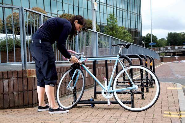 Locking up a bike