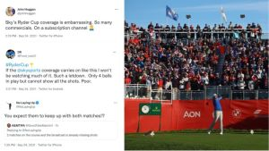 """Social Media Reacts To """"Shocking"""" And """"Embarrassing"""" Ryder Cup Coverage"""