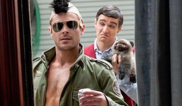 Zac Efron and Dave Franco as Robert De Niro in Neighbors
