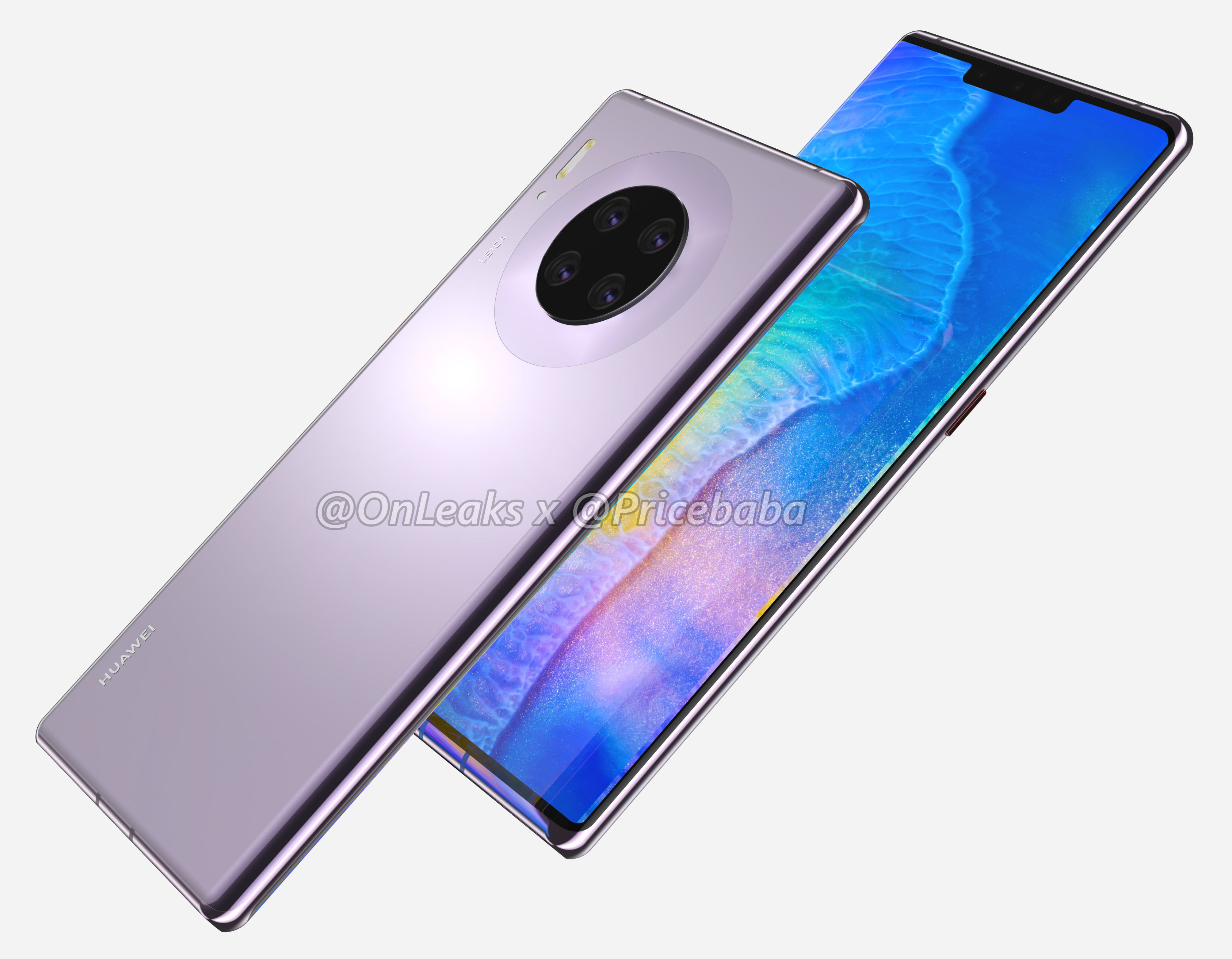 Huawei Mate 30 Pro Looks Gorgeous in New Renders — Four