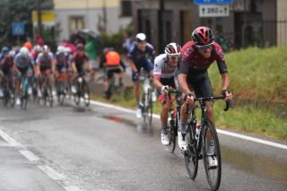 VARESE ITALY AUGUST 03 Gianni Moscon of Italy and Team INEOS during the 1st Grande Trittico Lombardo 2020 a 1997km race from Legnano to Varese TritticoLombardo on August 03 2020 in Varese Italy Photo by Tim de WaeleGetty Images