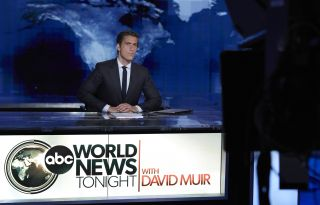 David Muir at the 'World News Tonight' anchor desk
