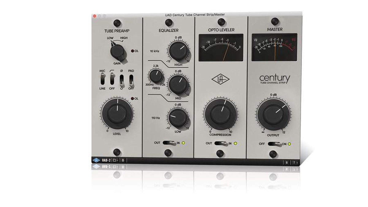 Universal Audio Century Tube Channel Strip Review Musicradar 3 Band Equalizer Control