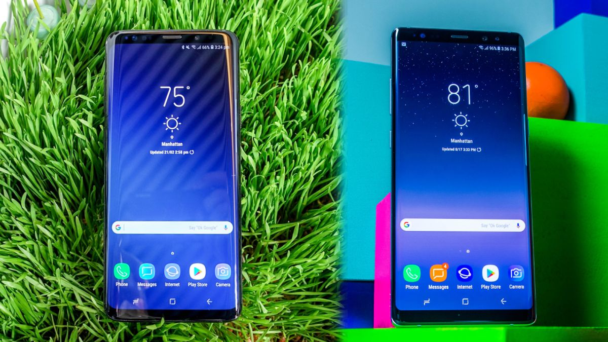 COMPARE SAMSUNG NOTE 8 AND S9