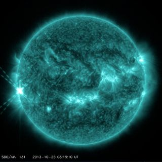 Powerful X1.7-Class Flare - October 25th, 2013