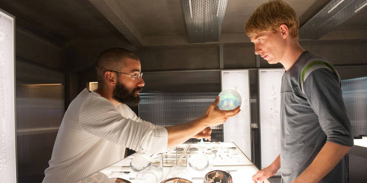 Ex Machina Isaac and Gleeson