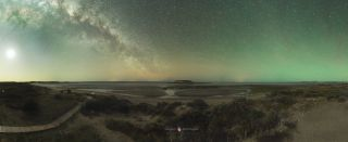 Isla de los Pajaros and Milky Way by Montufar