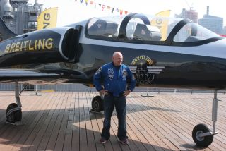 Astronaut Scott Kelly at U.S.S. Intrepid