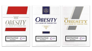 Cancer Research UK obesity cigarette packets