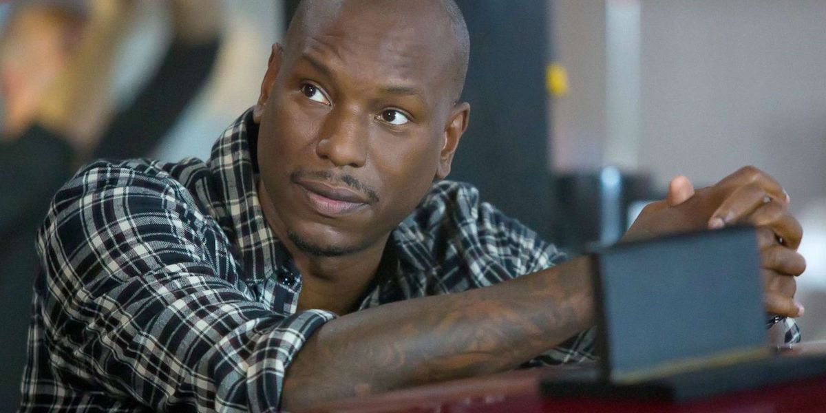 Tyrese Gibson as Roman Pierce in Fate of the Furious