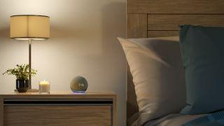 Amazon Echo Dot in a bedroom