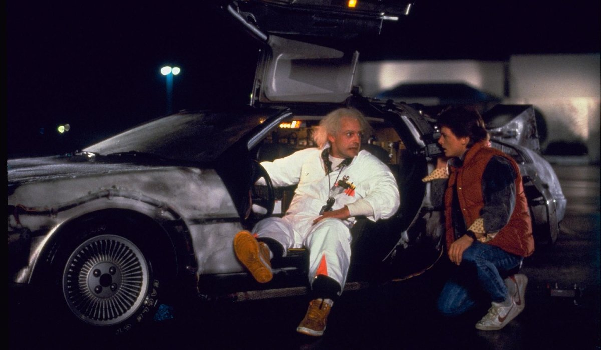 Back to the Future Doc explains the DeLorean to Marty