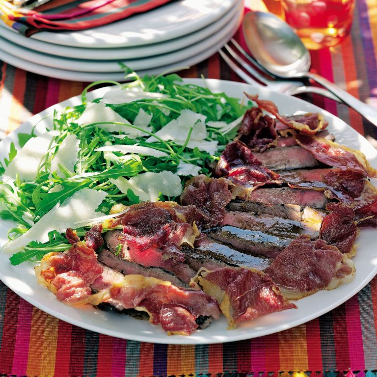 Italian beef salad with crispy prosciutto and Parmesan recipe-recipe ideas-woman and home
