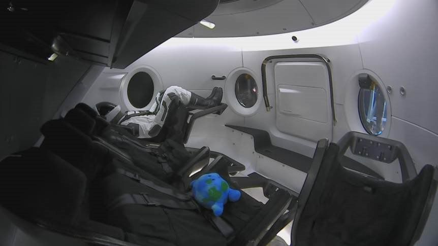 SpaceX Adds Adorable 'Zero-G Indicator' Inside the Crew Dragon