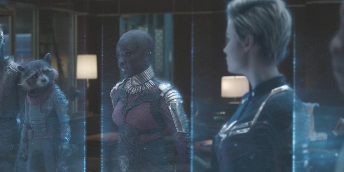 Bradley Cooper, Danai Gurira, and Brie Larson in Avengers: Endgame