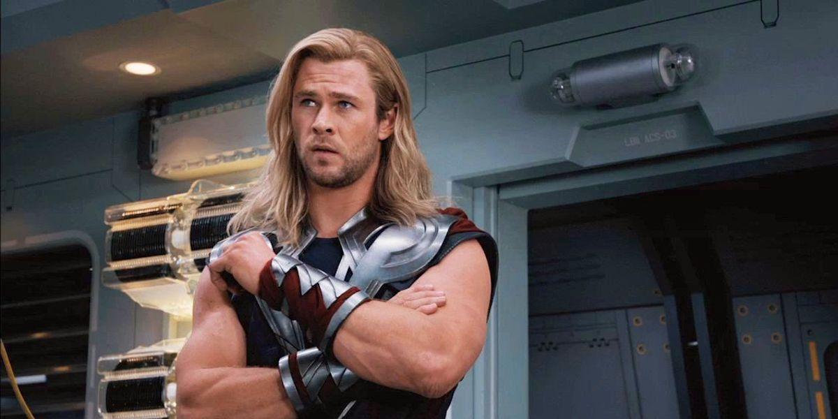 Thor (Chris Hemsworth) crosses his arms.