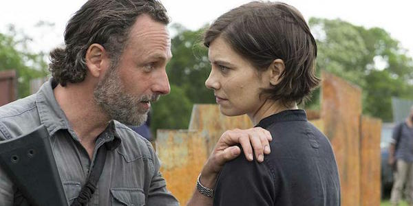 Maggie and Rick in the Season 8 premiere