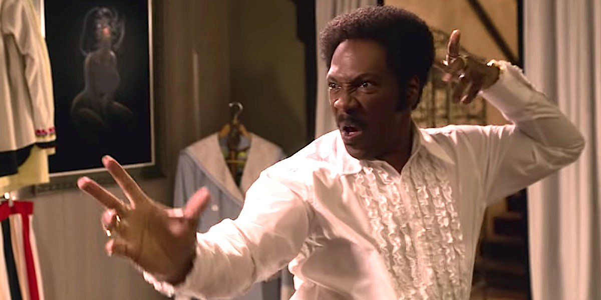 Rudy Ray Moore (Eddie Murphy) fights in Dolemite Is My Name (2019)