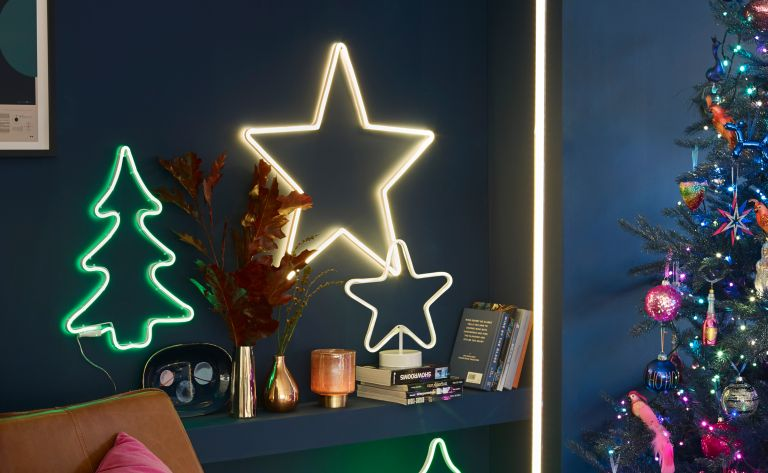 Christmas tree alternatives: John Lewis neon Christmas lights