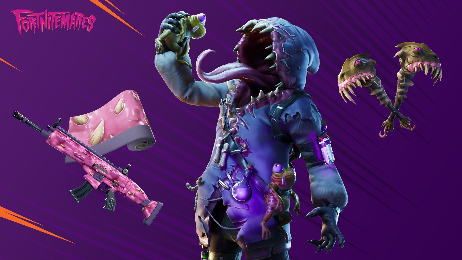 A Fortnite skin of a big mouthed monster