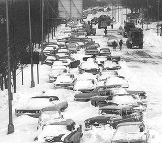 Chicago's Lakeshore Drive, January 1967