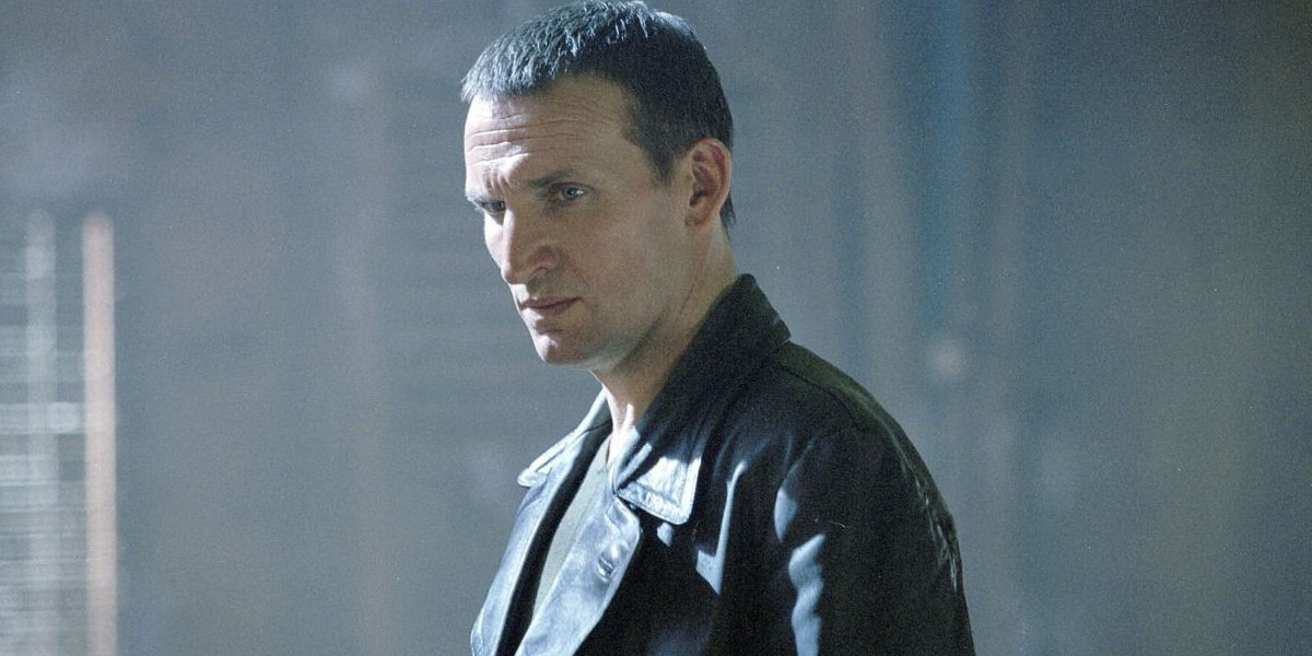 Doctor Who Christopher Eccleston bathed in sunlight