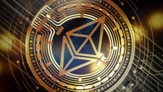 What is Ethereum — A 3D rendering of the Ethereum cryptocurrency logo.