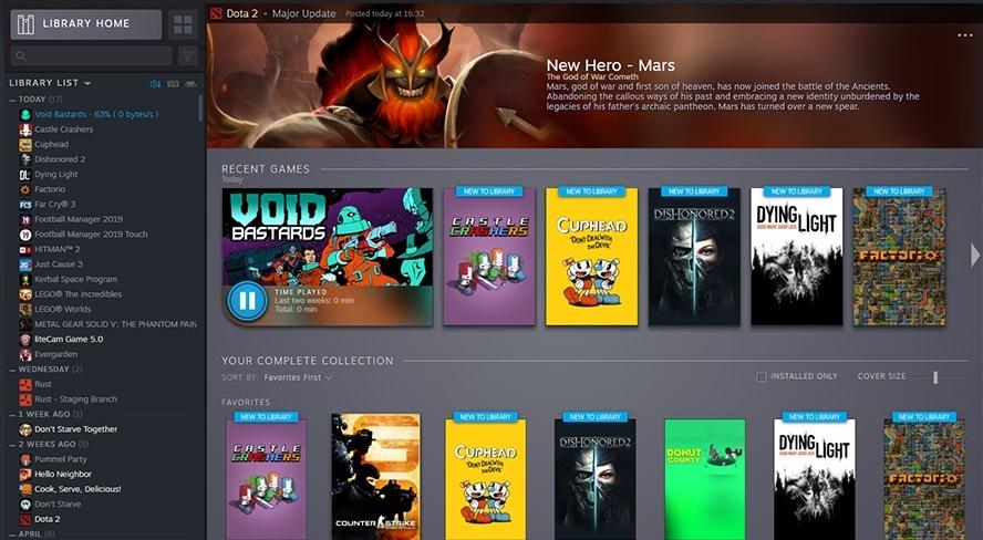 Steam Library overhaul is just weeks away | PC Gamer