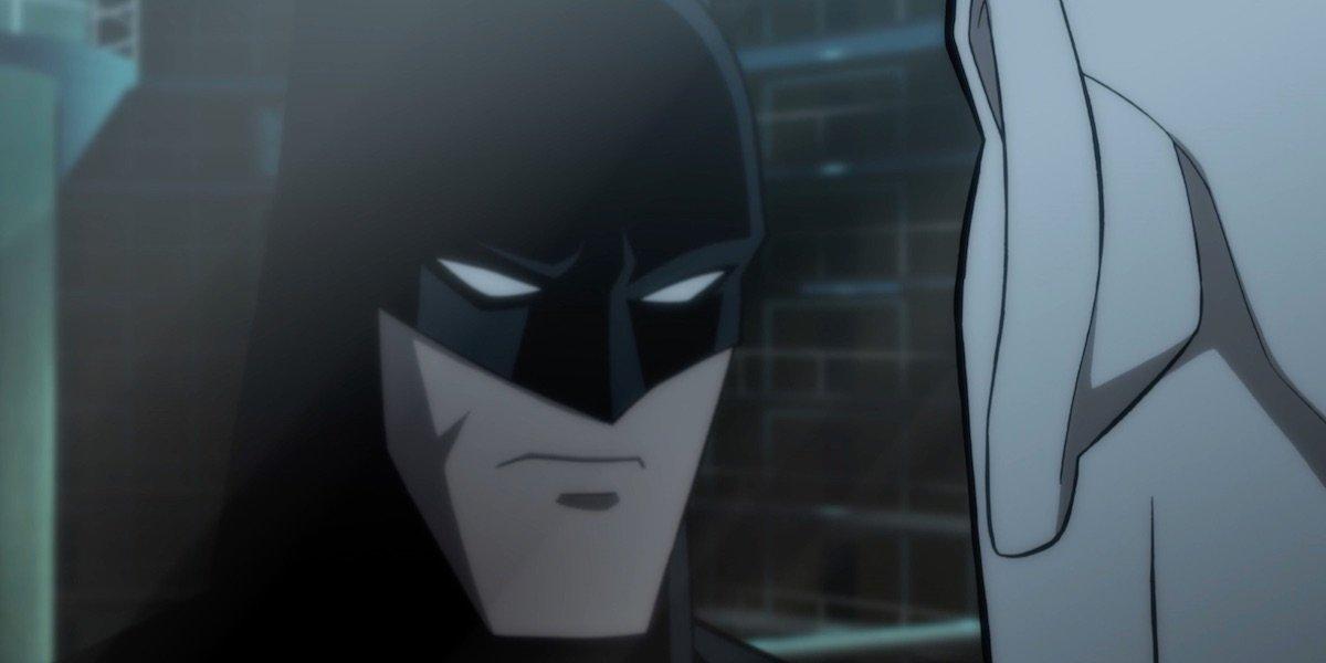 Batman stares at Calendar Man in The Long Halloween