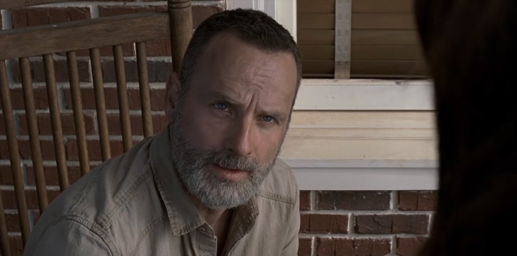 Andrew Lincoln's Rick Grimes in The Walking Dead
