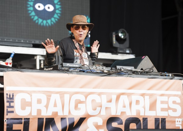 Craig Charles on the decks