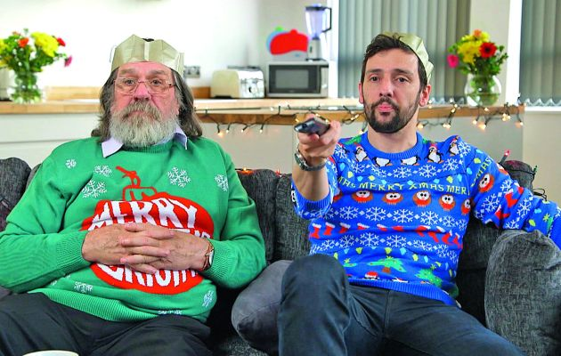 Comediens such as Miranda's Sally Phillips and Sarah Hadland, or The Royle Family's Ricky Tomlinson and Ralf Little settle down on their sofas to watch Christmas specials of yesteryear