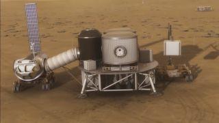 Mars habitat and vehicle art
