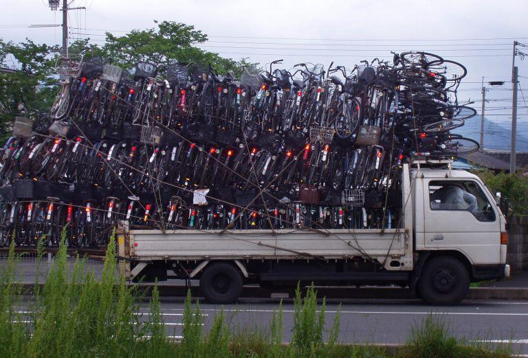 scrap metal bikes
