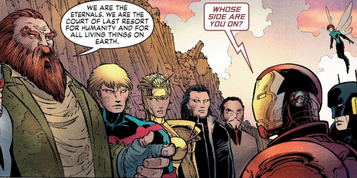 The Eternals meet Iron Man