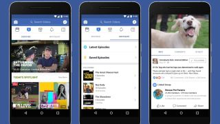 Facebook Watch on a smartphone