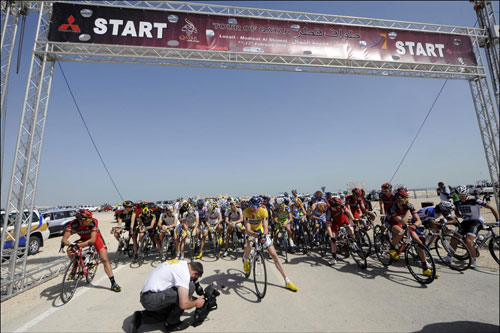 Start line, Tour of Qatar 2010, stage five