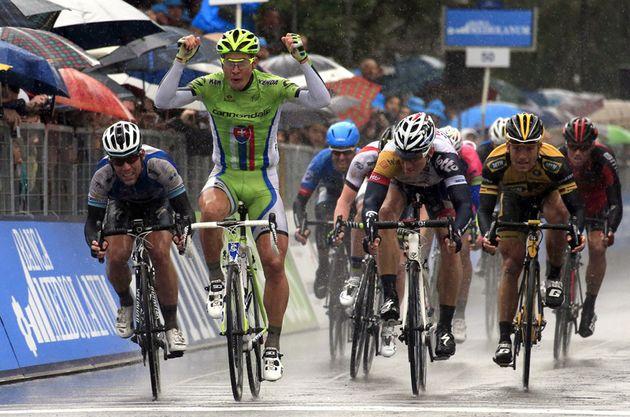 Peter Sagan wins, Tirreno-Adriatico 2013, stage three
