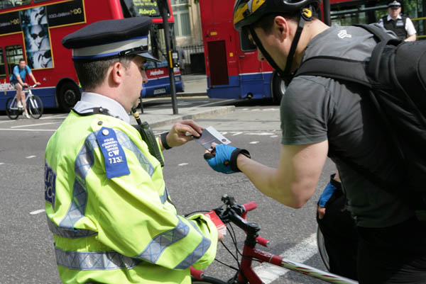 Police cyclist TfL crackdown