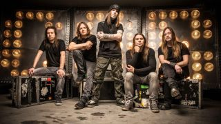 Latvala, far right, with Children Of Bodom