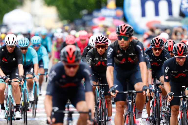 Egan Bernal on stage 15 of the 2021 Giro d'Italia