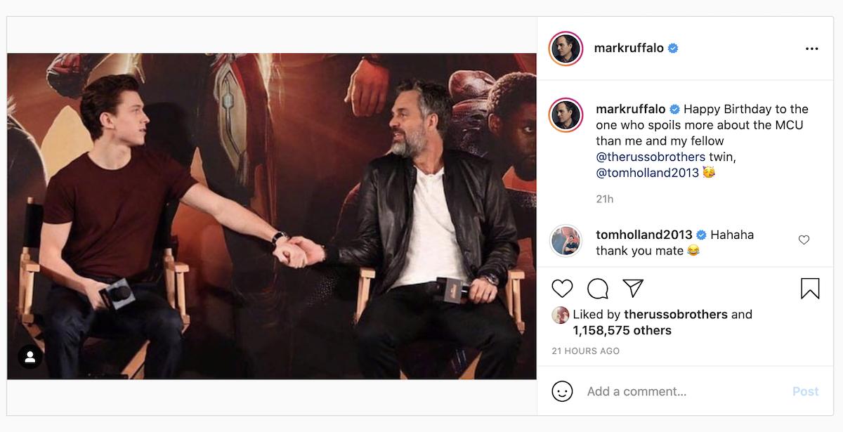 Mark Ruffalo and Tom Holland