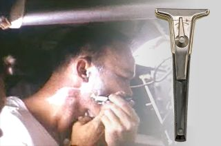 Michael Collins was filmed shaving with a Gillette Techmatic safety razor during the Apollo 11 mission in 1969.