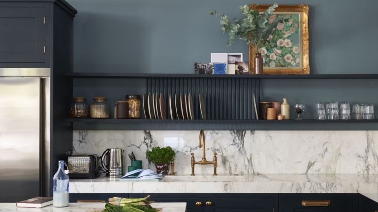 World's most popular paint colours - Livingetc - a kitchen painted in Farrow & Ball Railings