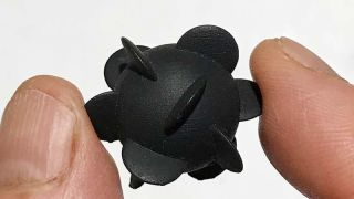 One of the team's 3-D printed isotropic helicoids.