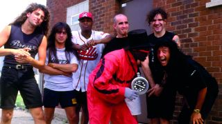 A photograph of Anthrax and Public Enemy