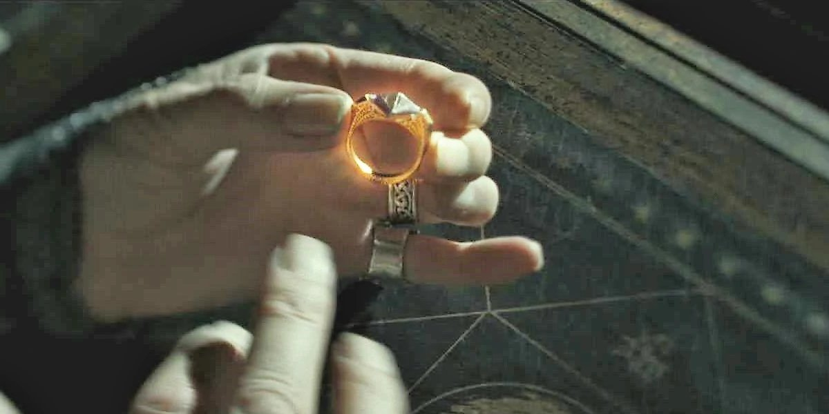 The Horcrux ring belonging to Merope Gaunt in Harry Potter and the Half-Blood Prince