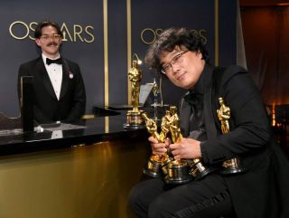 Bong Joon-ho at the 2020 Academy Awards.
