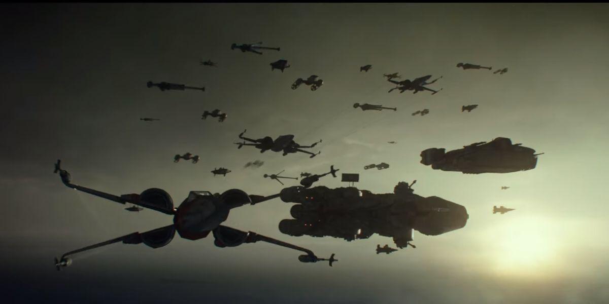 Rebellion ships in Star Wars: The Rise of Skywalker