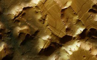 Noctis Labyrinthus Mosaic Space Wallpaper